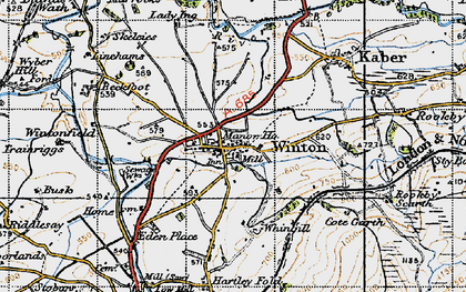Old map of Winton Field in 1947