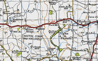 Old map of Winton Grange in 1947