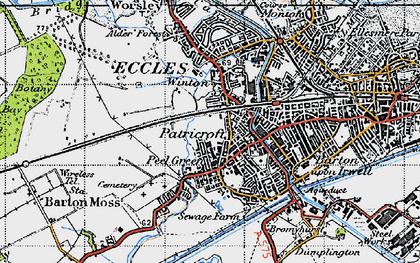 Old map of Winton in 1947