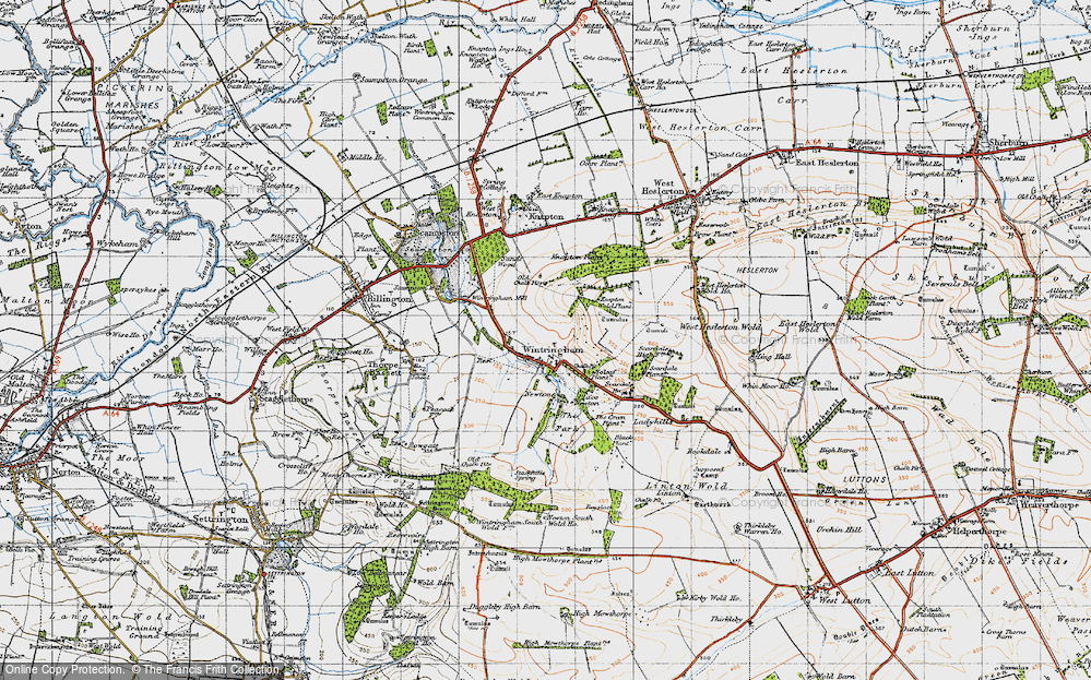 Old Map of Wintringham, 1947 in 1947