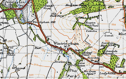 Old map of Linton Wold in 1947