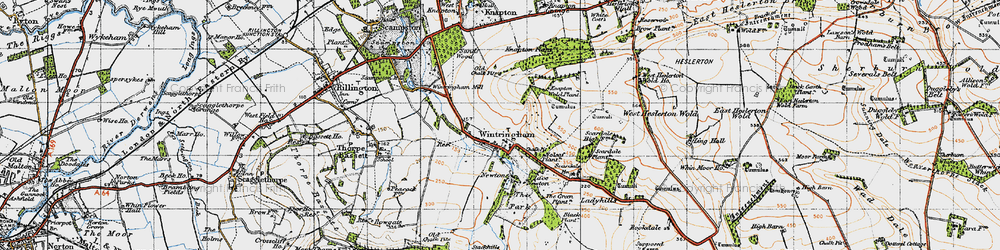 Old map of Wintringham in 1947
