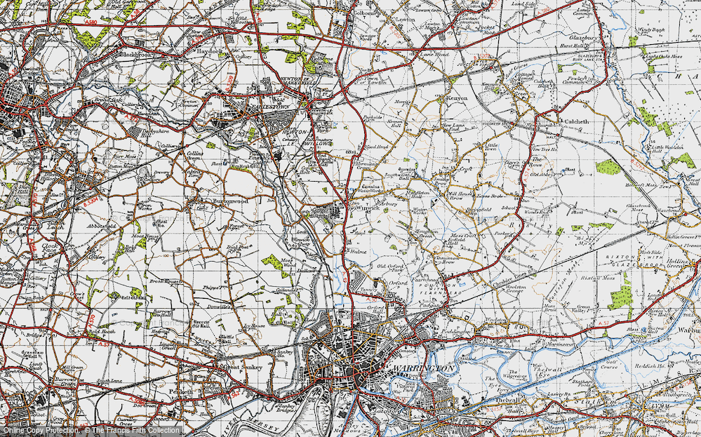 Old Map of Winwick, 1947 in 1947