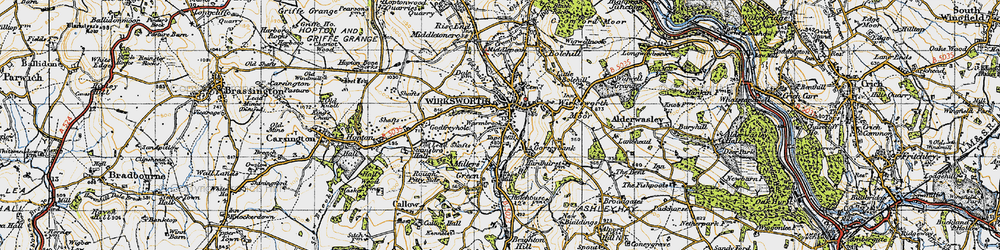 Old map of Wirksworth in 1946