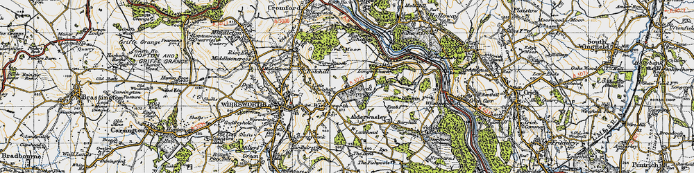 Old map of Wigwell Grange in 1947