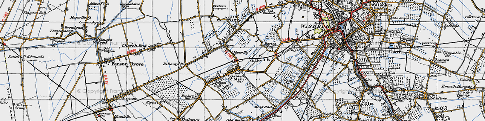 Old map of Wisbech St Mary in 1946