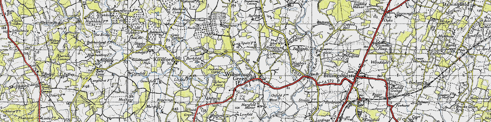 Old map of Wisborough Green in 1940