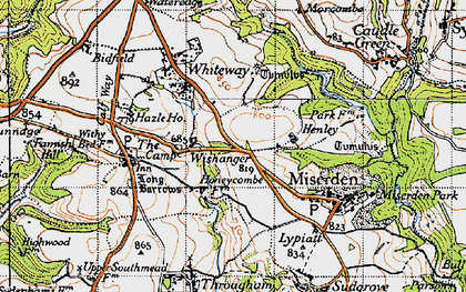 Old map of Wishanger in 1946