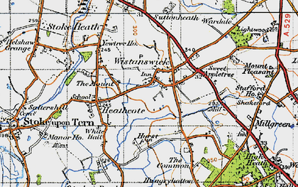 Old map of Wistanswick in 1947