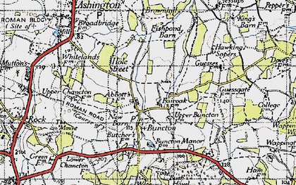 Old map of Wiston in 1940