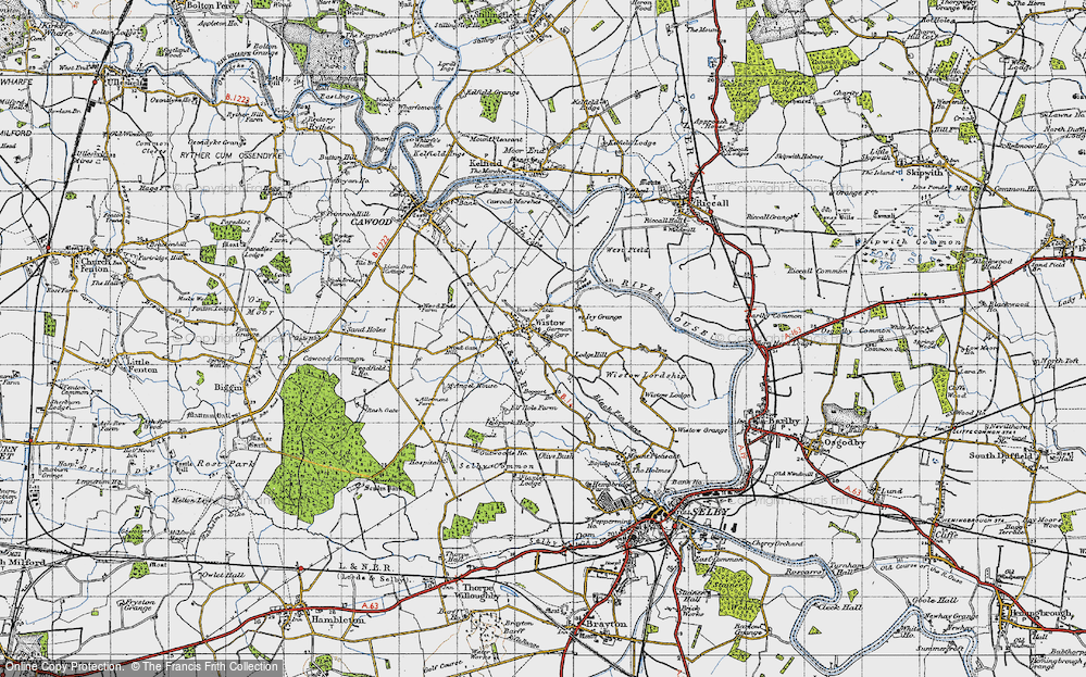 Old Map of Wistow, 1947 in 1947