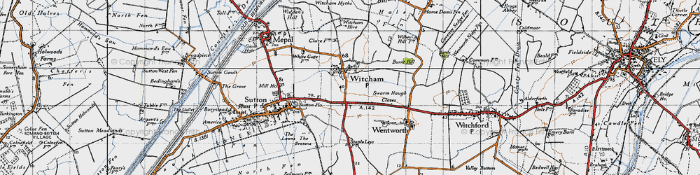 Old map of Witcham in 1946
