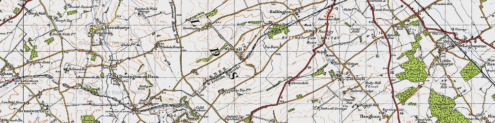 Old map of Withcall in 1946