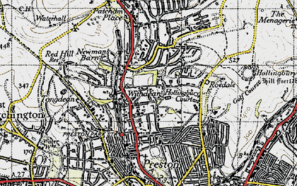 Old map of Withdean in 1940