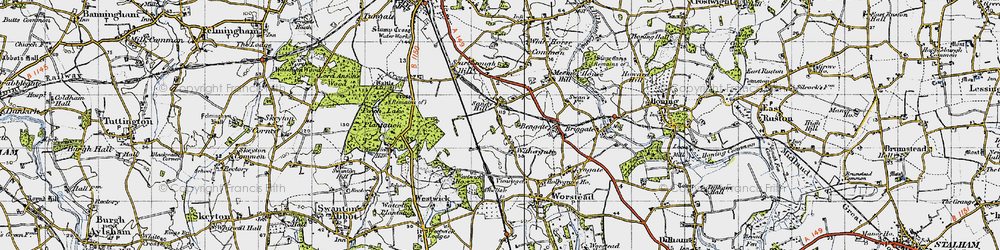 Old map of Withergate in 1945
