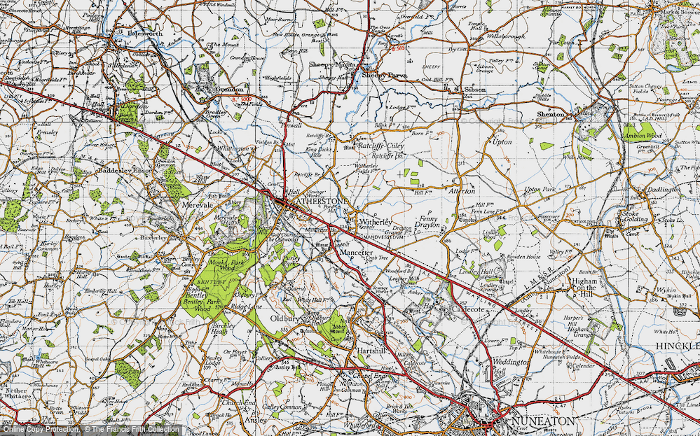 Old Map of Witherley, 1946 in 1946