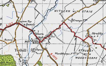Old map of Withern in 1946