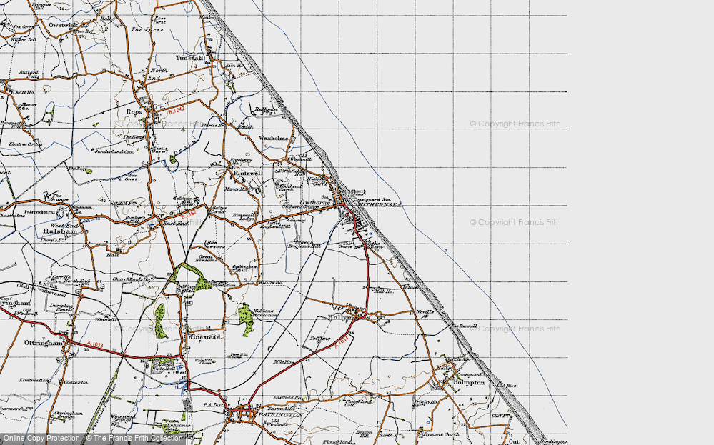 Old Map of Withernsea, 1947 in 1947
