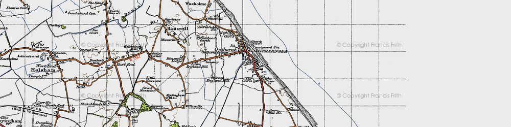 Old map of Withernsea in 1947