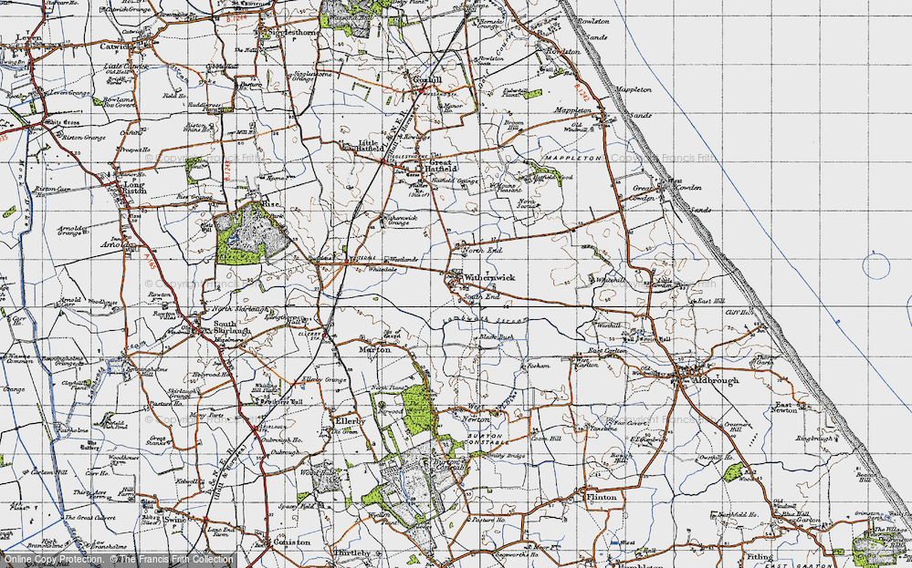 Old Map of Withernwick, 1947 in 1947