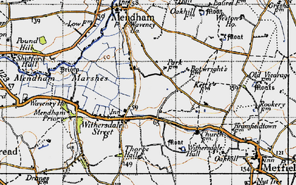 Old map of Withersdale Street in 1946