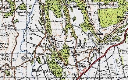 Old map of Askew Green in 1947