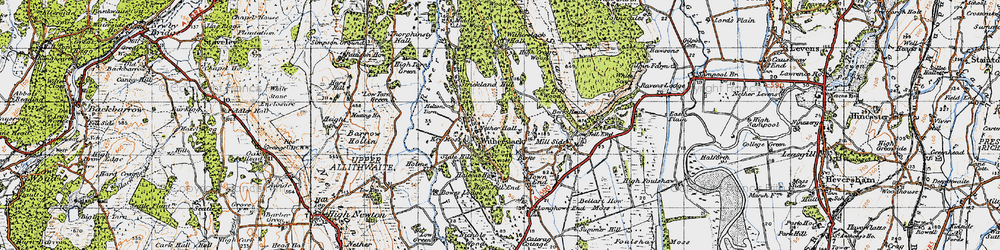 Old map of Witherslack Hall (Sch) in 1947