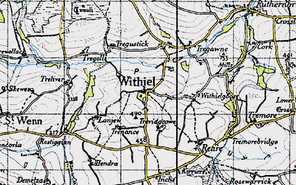 Old map of Withiel in 1946