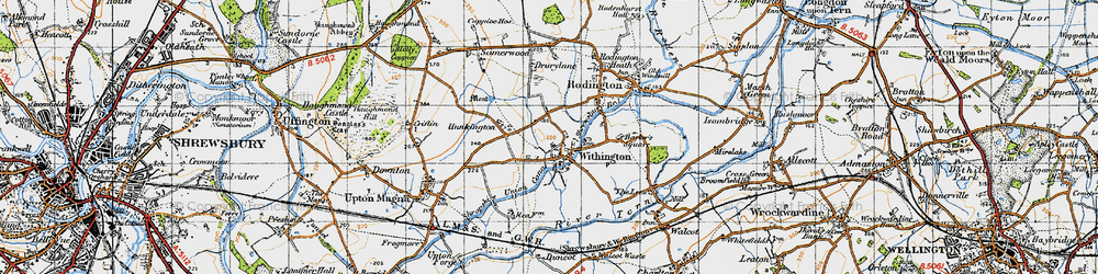 Old map of Withington in 1947