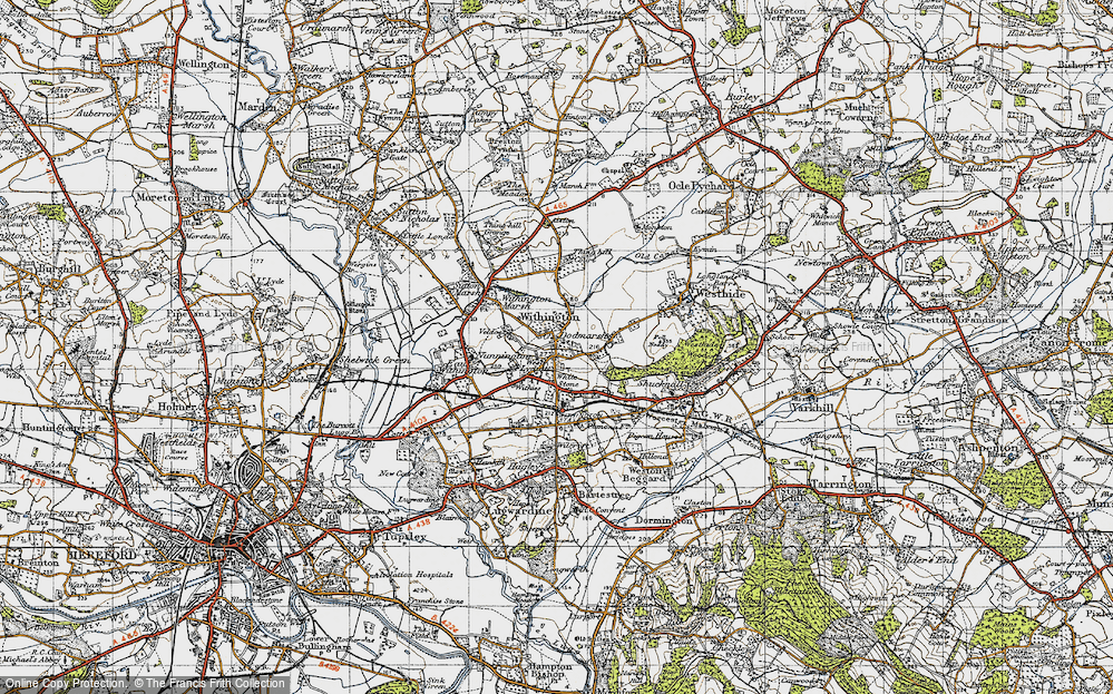 Old Map of Withington, 1947 in 1947