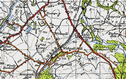 Old map of Withnell in 1947