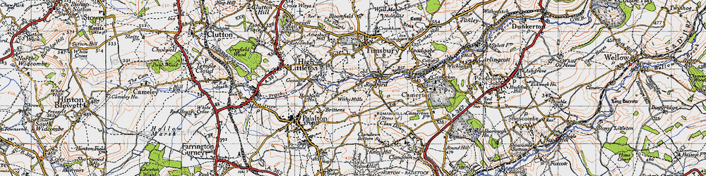 Old map of Withy Mills in 1946