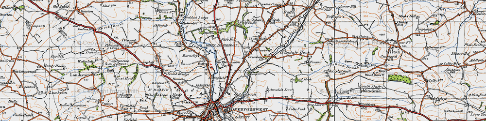 Old map of Withybush in 1946
