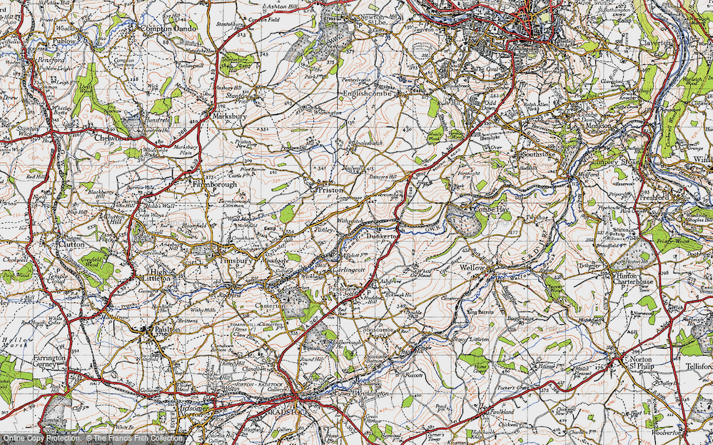 Old Map of Withyditch, 1946 in 1946