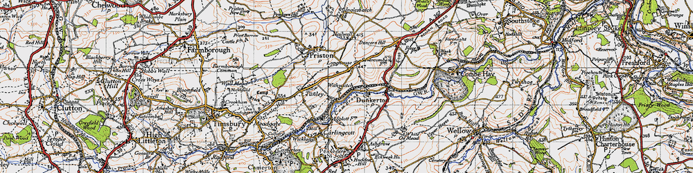 Old map of Withyditch in 1946