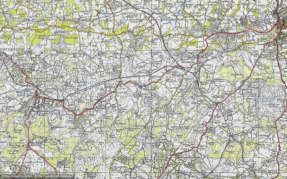 Old Map of Withyham, 1946 in 1946