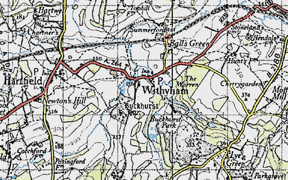 Old map of Withyham in 1946