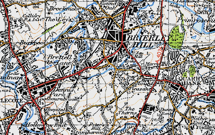 Old map of Withymoor Village in 1946