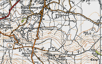 Old map of Withywood in 1946