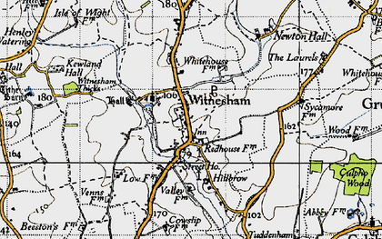 Old map of Witnesham in 1946