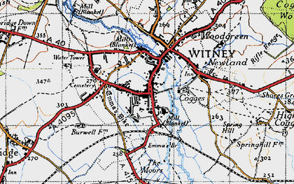 Old map of Witney in 1946