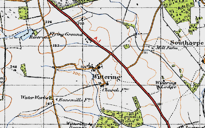 Old map of White Water Reservoir in 1946