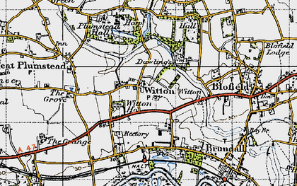 Old map of Witton Ho in 1945