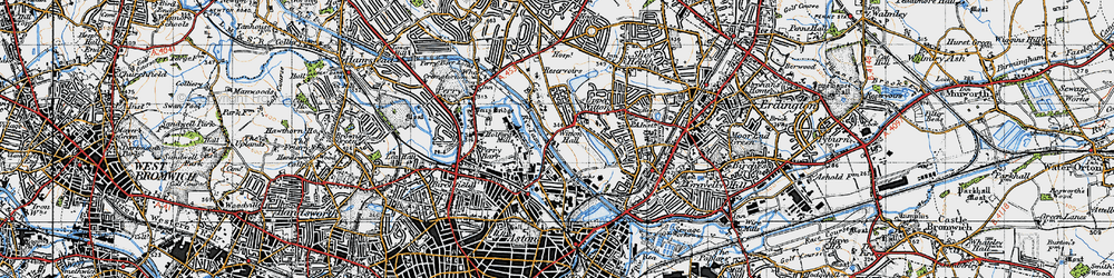 Old map of Witton in 1946