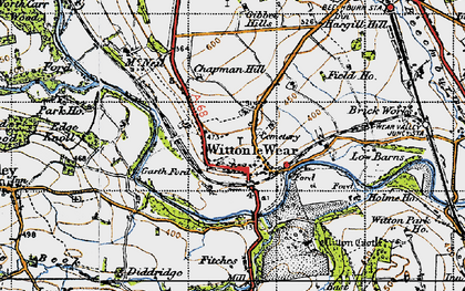 Old map of Witton Castle in 1947
