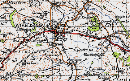 Old map of Abbotsfield in 1946