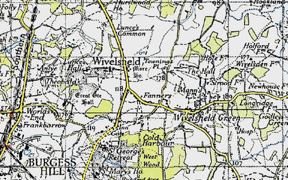 Old map of Wivelsfield in 1940
