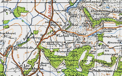 Old map of Wixhill in 1947