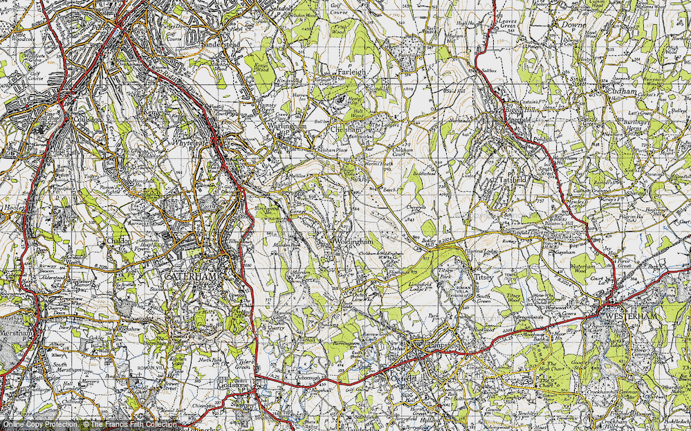 Old Map of Woldingham, 1946 in 1946