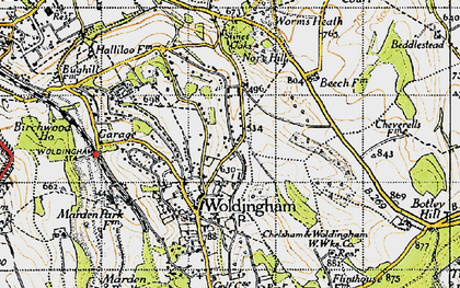 Old map of Woldingham in 1946